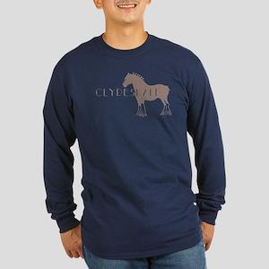 Clydesdale Horse Long Sleeve Dark T-Shirt