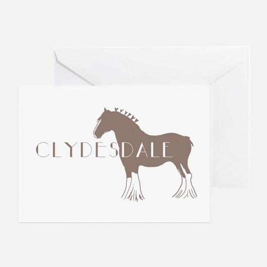 Clydesdale Horse Greeting Card