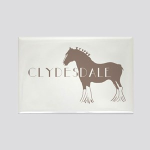 Clydesdale Horse Rectangle Magnet