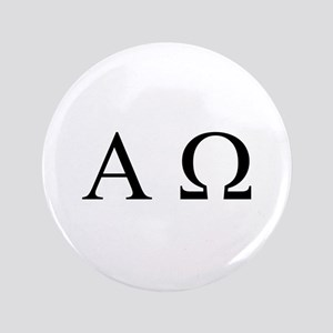 """Alpha & Omega"" 3.5"" Button"
