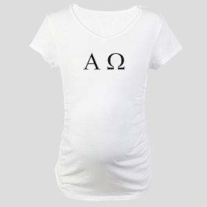 """Alpha & Omega"" Maternity T-Shirt"