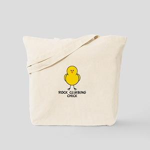 Rock Climbing Chick Tote Bag