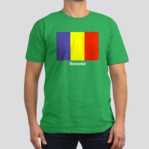 Romania Romanian Flag Men's Fitted T-Shirt (dark)