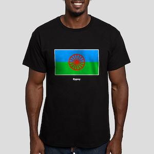 Gypsy Flag Men's Fitted T-Shirt (dark)