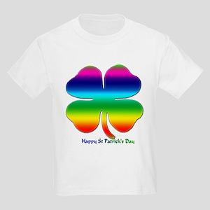 Rainbow Shamrock Kids Light T-Shirt