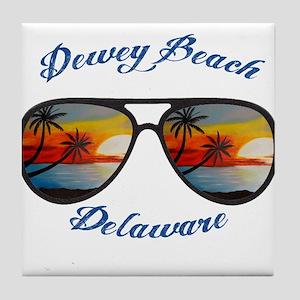 Delaware - Dewey Beach Tile Coaster
