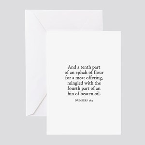 NUMBERS  28:5 Greeting Cards (Pk of 10)