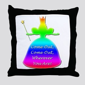 """GLBT """"Come Out"""" - Throw Pillow"""