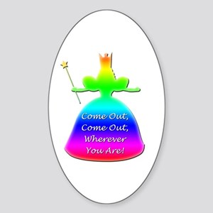 "GLBT ""Come Out"" - Sticker (Oval)"