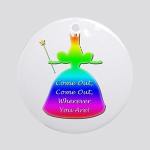 """GLBT """"Come Out"""" - Ornament (Round)"""