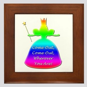 """GLBT """"Come Out"""" - Framed Tile"""