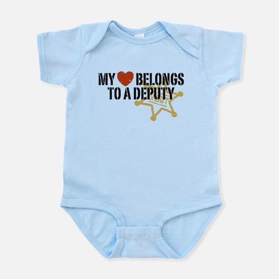 My Heart Belongs to a Deputy Infant Bodysuit