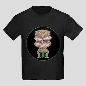Fang Phi Tiki (round) Kids Dark T-Shirt