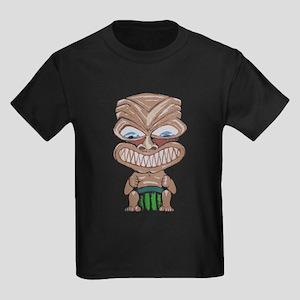 Ruf Fangs (beige) Kids Dark T-Shirt