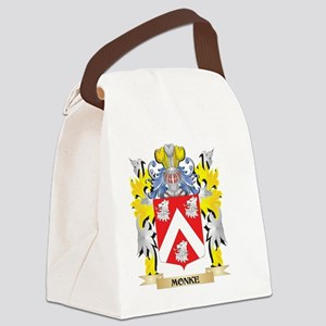 Monke Coat of Arms - Family Crest Canvas Lunch Bag