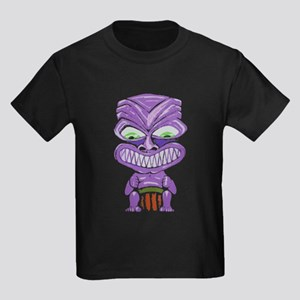 Ruf Fang Tiki (purple) Kids Dark T-Shirt