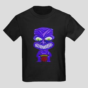 Ruf Fang Tiki (blue) Kids Dark T-Shirt