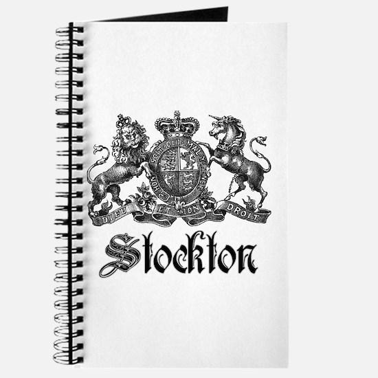 Stockton Vintage Crest Family Name Journal