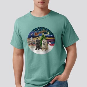 XmasMagic-TWO Cairn Terriers T-Shirt