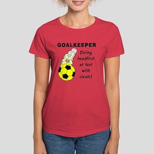Soccer Goalkeeper Women's Dark T-Shirt