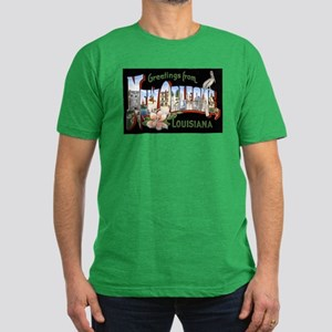 New Orleans Louisiana Greetin Men's Fitted T-Shirt