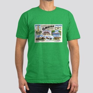 Omaha Nebraska Men's Fitted T-Shirt (dark)