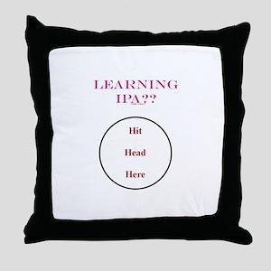 IPA - Hit Head Here Throw Pillow