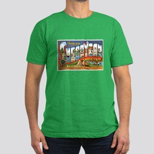Sheboygan Wisconsin Greetings Men's Fitted T-Shirt