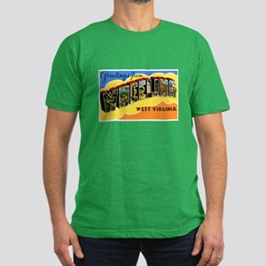 Wheeling West Virginia Greeti Men's Fitted T-Shirt