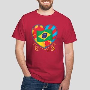 Brazillian Heart Dark T-Shirt