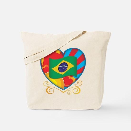 Brazillian Heart Tote Bag