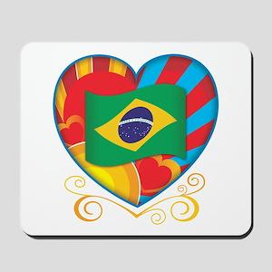 Brazillian Heart Mousepad