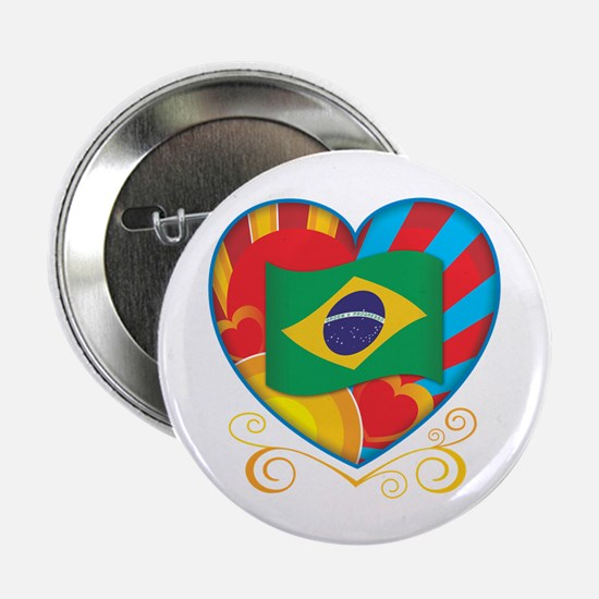 "Brazillian Heart 2.25"" Button"