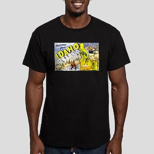 Idaho State Greetings Men's Fitted T-Shirt (dark)