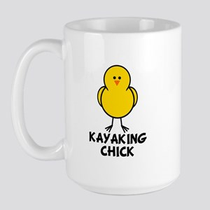 Kayaking Chick Large Mug