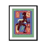 Voodoo Dancer Framed Panel Print