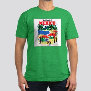 Mexico West Coast Men's Fitted T-Shirt (dark)
