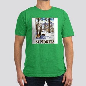 St Moritz Switzerland Men's Fitted T-Shirt (dark)