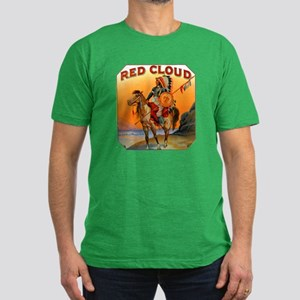Red Cloud Indian Chief Men's Fitted T-Shirt (dark)