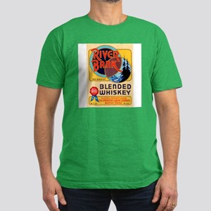 Whiskey Label Men's Fitted T-Shirt (dark)