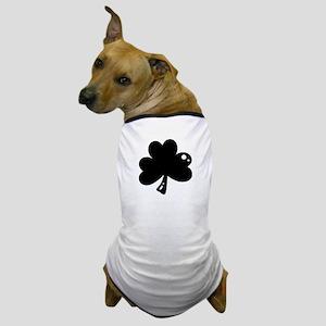 Black Shamrock Dog T-Shirt