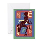 Voodoo Dancer After MAtisse Greeting Cards (Pk of