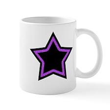 Black Glitter Star Mug