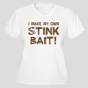 I MAKE MY OWN STINK BAIT! Women's Plus Size V-Neck