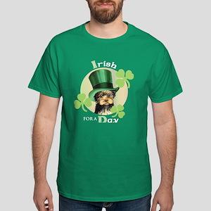 St. Patrick Yorkie Dark T-Shirt