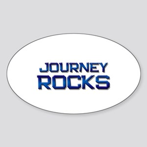 journey rocks Oval Sticker