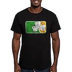 Retro Irish Logo Men's Fitted T-Shirt (dark)