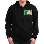 Retro Irish Logo Zip Hoodie (dark)