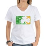 Retro Irish Logo Women's V-Neck T-Shirt