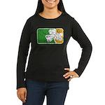 Retro Irish Logo Women's Long Sleeve Dark T-Shirt